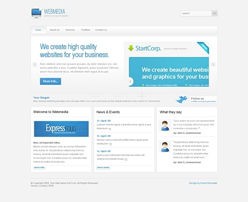 Template Image for WebMedia - Website Template