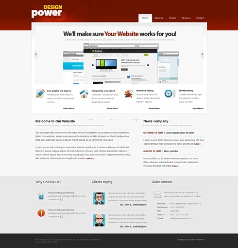 Template Image for DesignPower - HTML Template