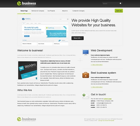 Template Image for eBusiness - Website Template