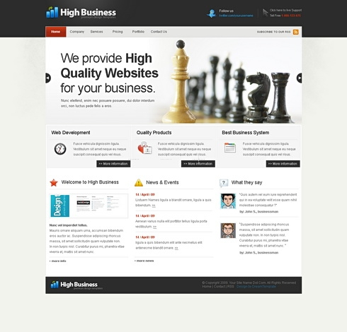 Template Image for HighBusiness - HTML Template