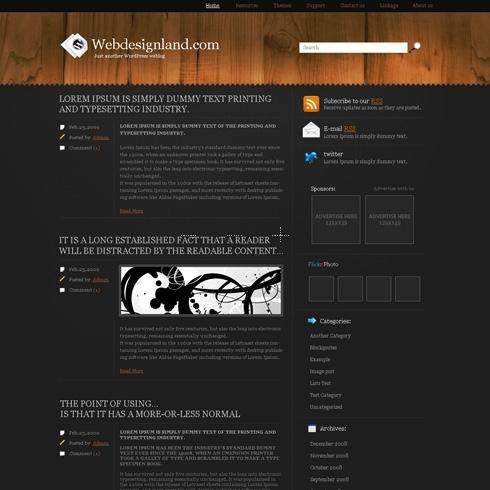 Template Image for NightDeck - WordPress Theme