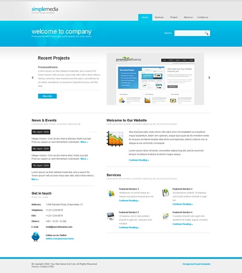 Template Image for SimpleMedia - HTML Template