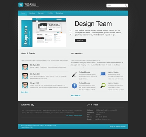 Template Image for WebAdress - CSS Template