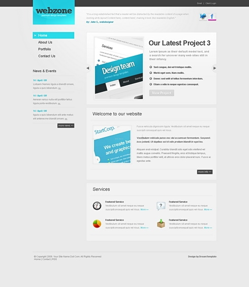 Template Image for WebZone - Website Template