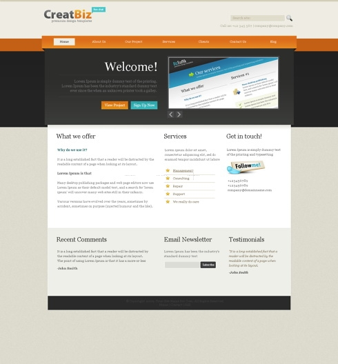 Template Image for FocusPoint -  HTML Template