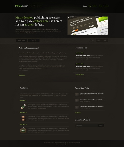 Template Image for PrimeDesign - HTML Template