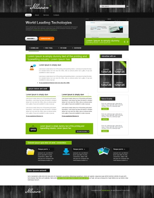 Template Image for TrendyWeb - CSS Template