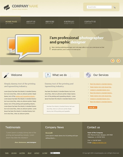 Template Image for Coffeetint - Website Template