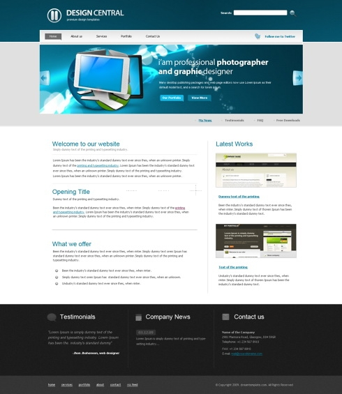 Template Image for DesignCentral - Website Template