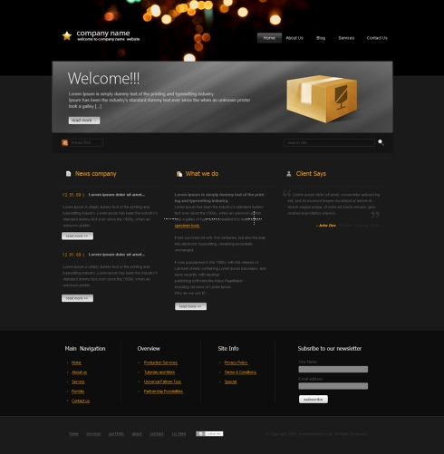 Template Image for MagicNight - HTML Template