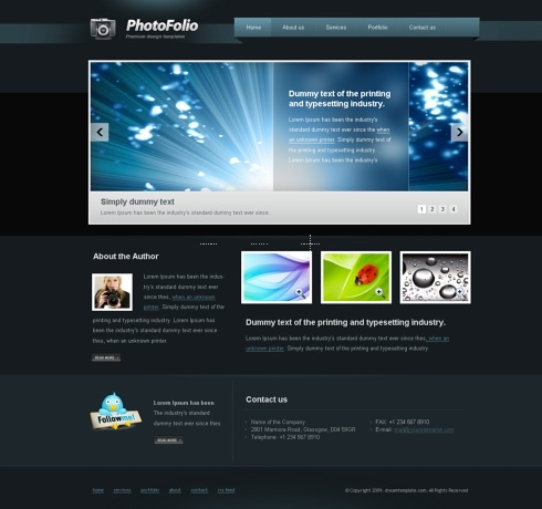 Template Image for Photographersden - Website Template