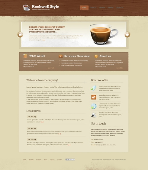 Template Image for RockWell - Website Template