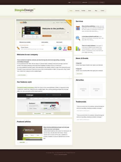 Template Image for SimpleDesign - CSS Template