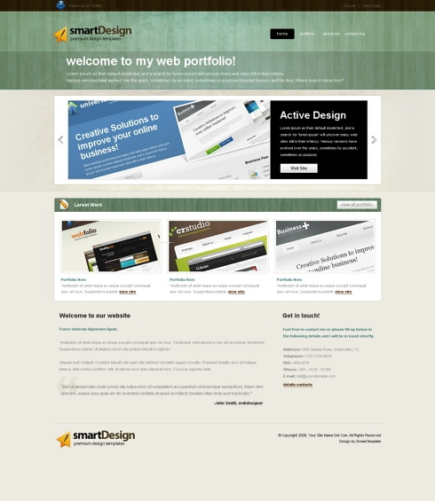 Template Image for SmartChalk -  Website Template