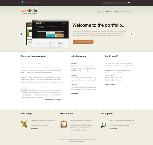 Template Image for WebFolio - Website Template