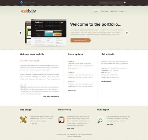 Template Image for WebFolio - Website Template