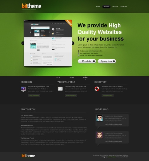 Template Image for BitTheme - HTML Template