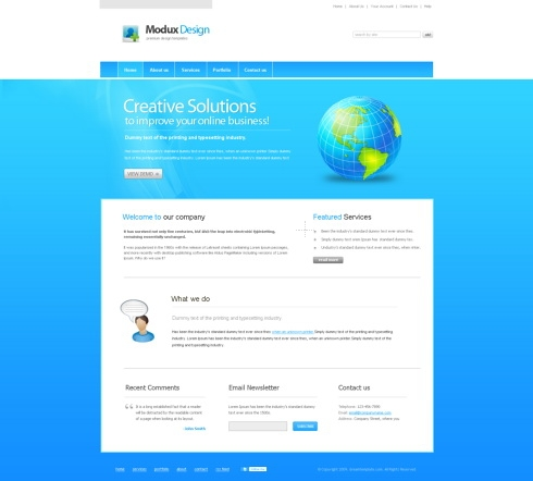 Template Image for ModuxDesign - Website Template