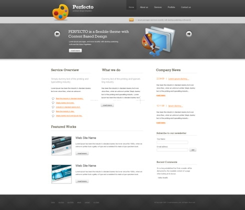 Template Image for Perfecto - HTML Template
