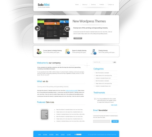 Template Image for Solomini - Website Template