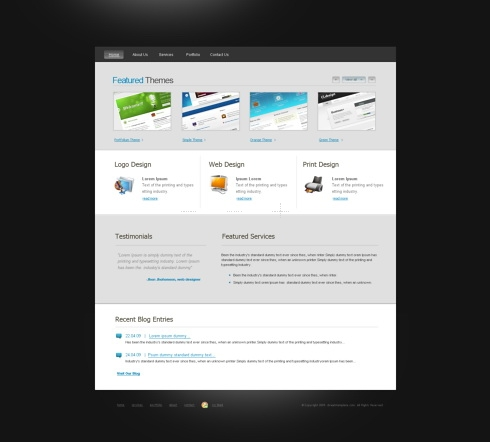Template Image for WebySpace - CSS Template