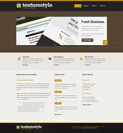 Template Image for TextureStyle - Website Template