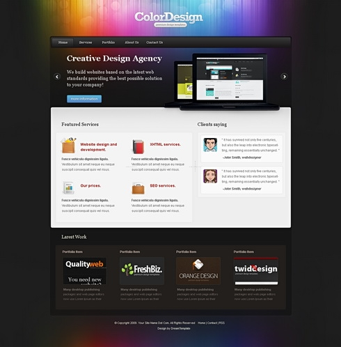 Template Image for ColorDesign - HTML Template