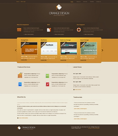 Template Image for OrangeDesign - Website Template