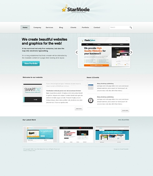 Template Image for StarMode - Website Template