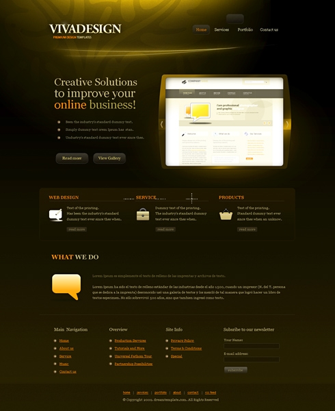 Template Image for VivaDesign - HTML Template