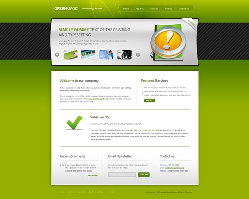 Template Image for GreenMagic - HTML Template