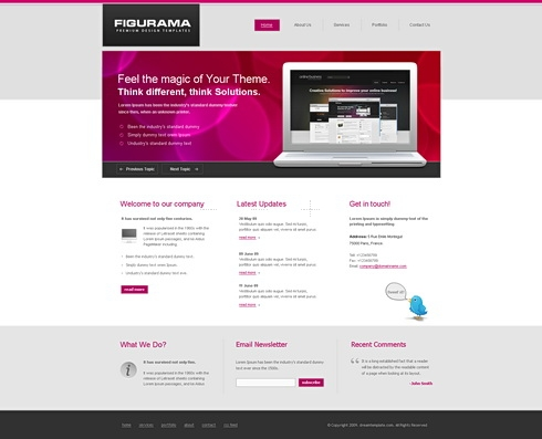Template Image for Figurama - HTML Template