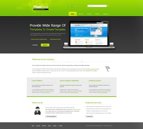 Template Image for PixelZone - Website Template