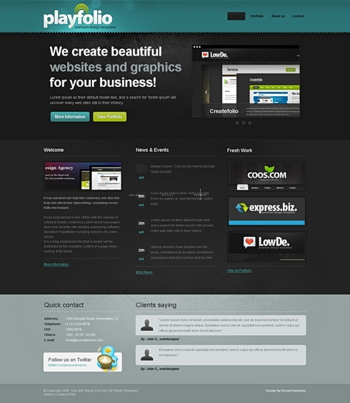 Template Image for PlayFolio - HTML Template