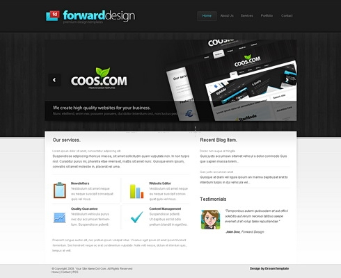 Template Image for ForwardDesign - Website Template
