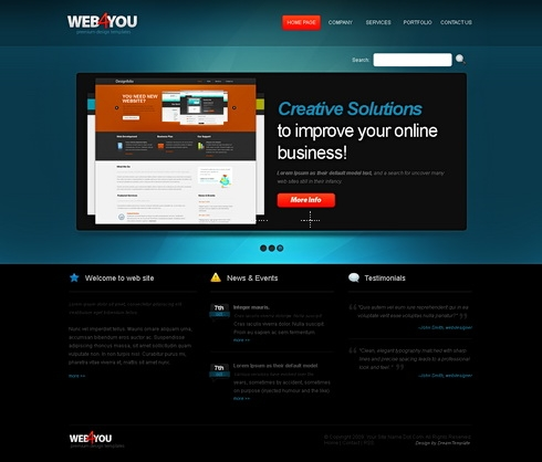 Template Image for Web4you - Website Template