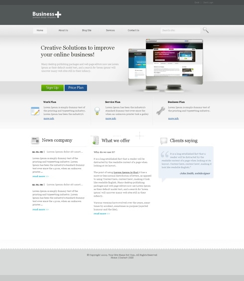 Template Image for CorporatePlus - Website Template