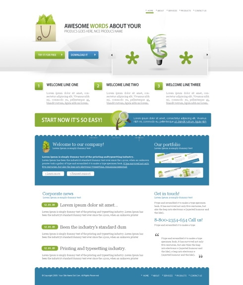 Template Image for CleanandSimple -  HTML Template