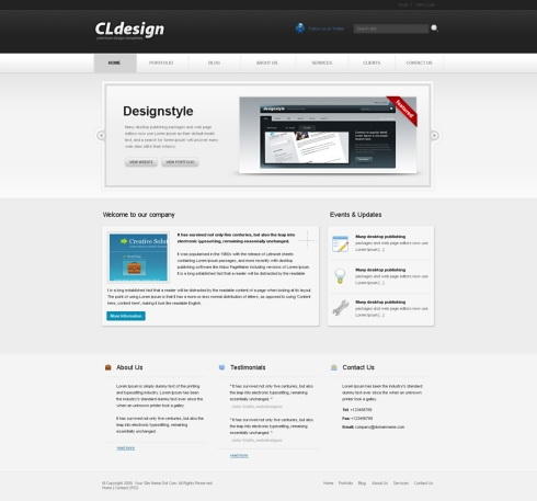 Template Image for Cldesign - Website Template