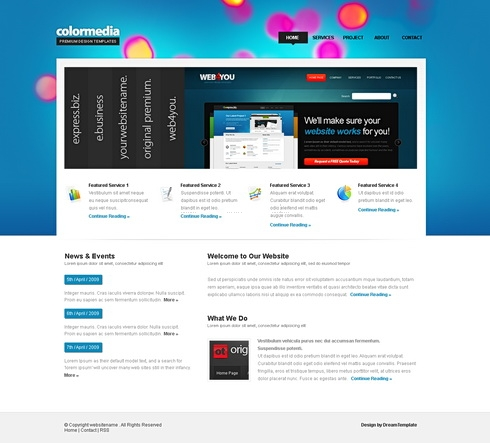 Template Image for BrightAccordion - Website Template