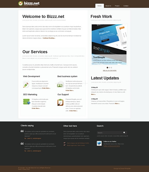 Template Image for Buzznet - Website Template
