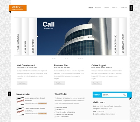 Template Image for CleanAccordion - HTML Template