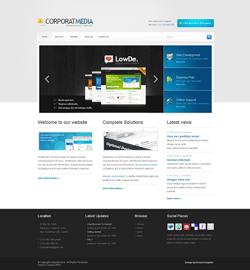 Template Image for CorporateMedia - HTML Template