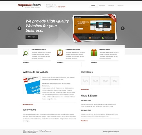 Template Image for CorporateTeam - Website Template
