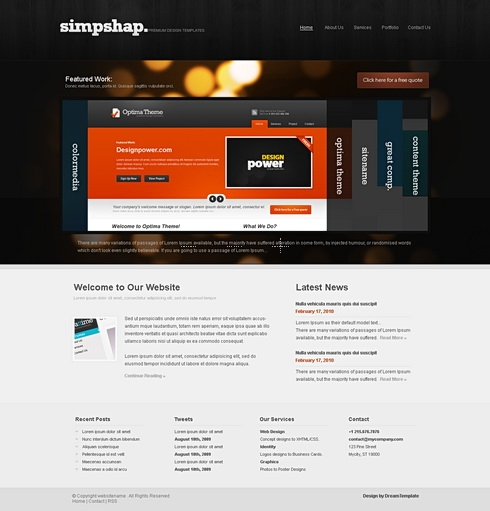 Template Image for DarkAccordion -  HTML Template