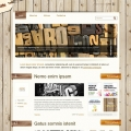 Template: WoodenHouse - WordPress Theme