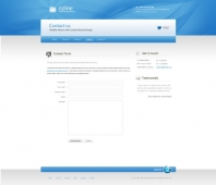 Template: CleanBlue - HTML Template