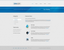 Template: VividBlue - HTML Template